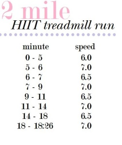 2 mile treadmill run